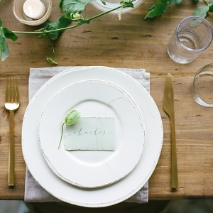 Organic vineyard inspired table setting