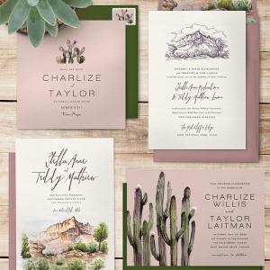 Desert wedding invitation