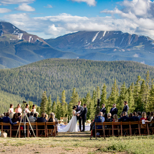 Elegant mountain wedding with Persian ceremony