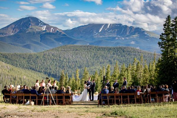 Elegant mountain wedding with Persian ceremony