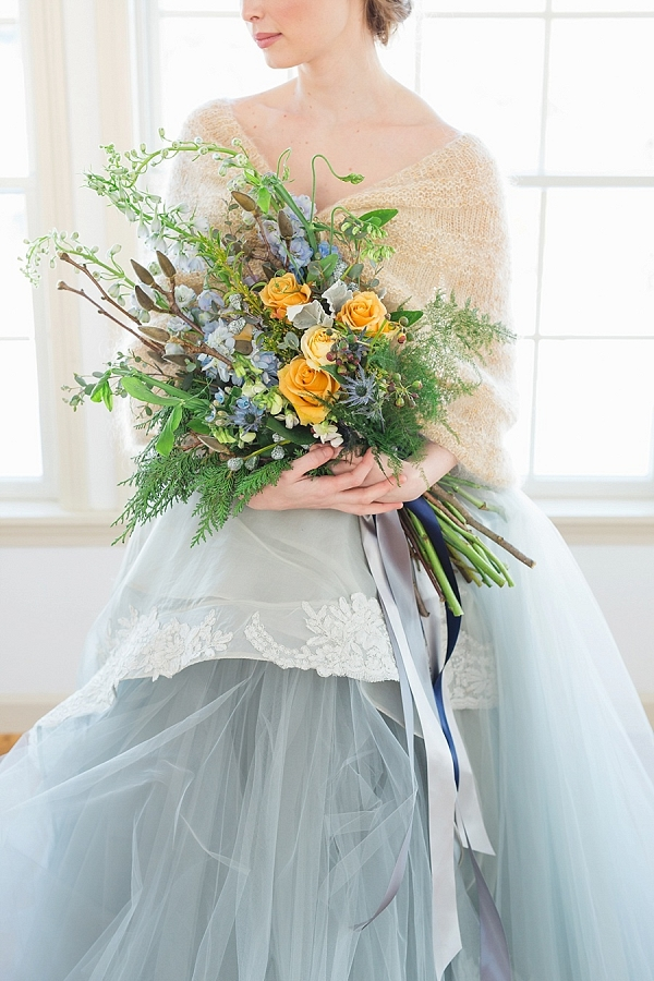 etherial blue wedding inspiration from Mountainside Bride