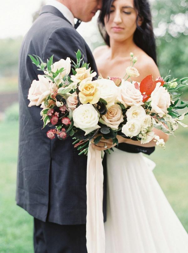 Romantic fall bridal bouquet