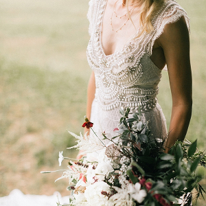 Embellished wedding dress
