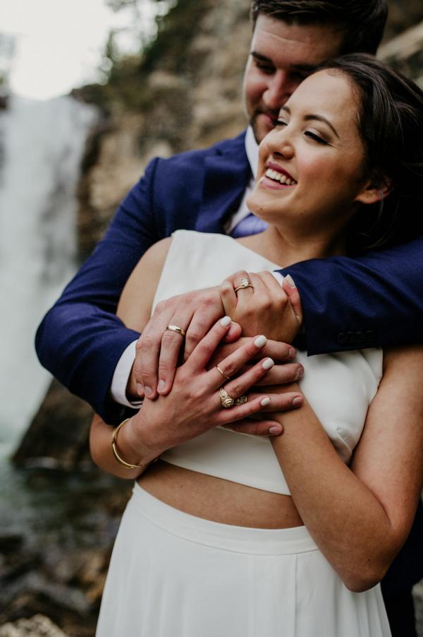 Crop top wedding gown