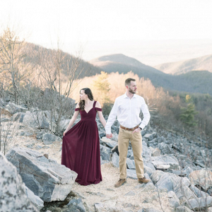 Golden hour engagement session in Shenandoah Valley