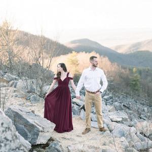Golden hour engagement session in Shenandoah Valley
