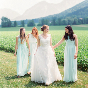 Mint green bridal party