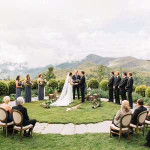Intimate mountain ceremony