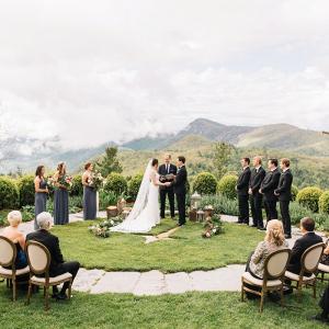 Intimate mountain ceremony