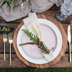 Nature Inspired Place Setting on Mountainside Bride