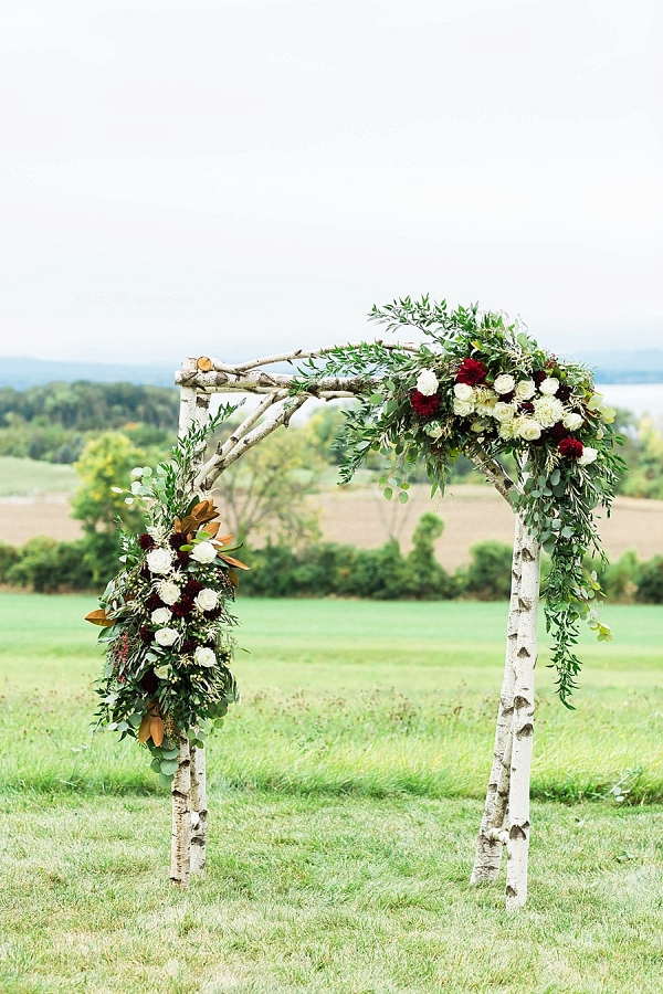 Ceremony arbor on Mountainside Bride