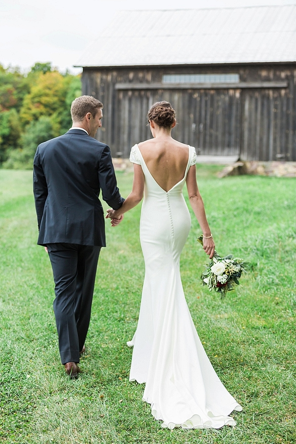 Fall Vermont Wedding on Mountainside Bride