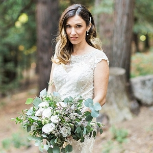 Green and White Bouquet | California Winter Wedding Inspiration