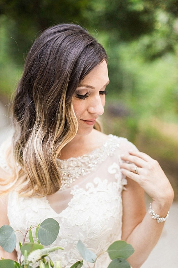 long hair style | California Winter Wedding Inspiration