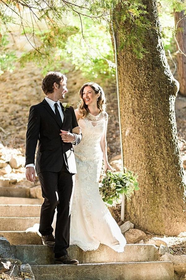 Elegant bride and groom   California Winter Wedding Inspiration