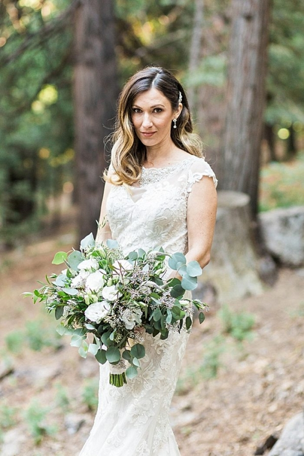 Organic Winter Wedding Inspo At Lake Arrowhead