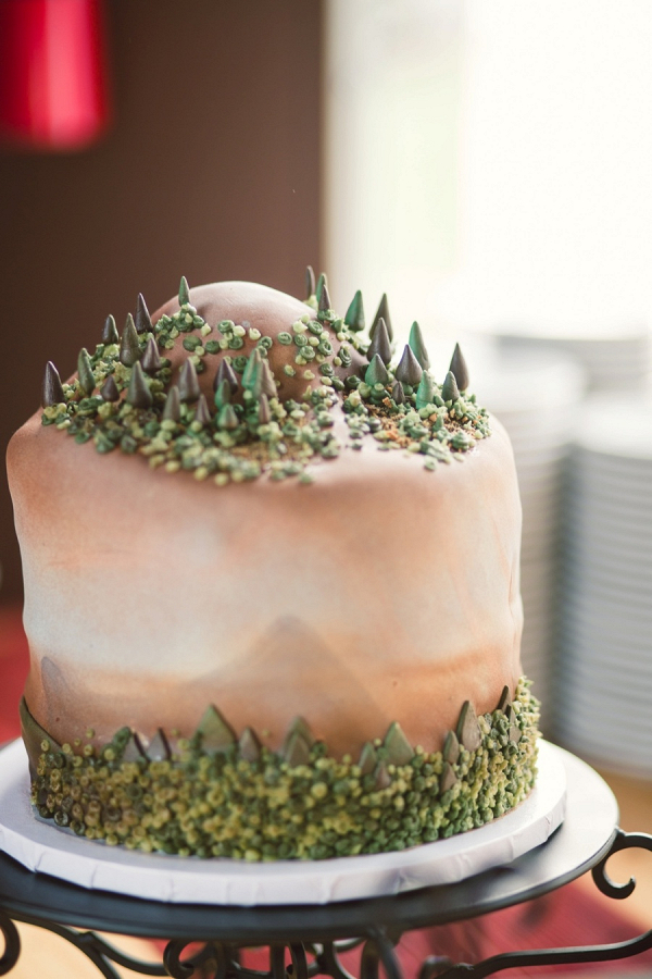 Mountain groom's cake
