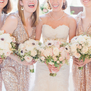 Sequin bridesmaids
