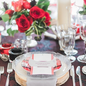 Canada themed place setting on Mountainside Bride