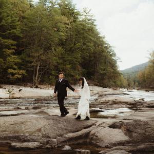 Mountain wedding portrait North Carolina