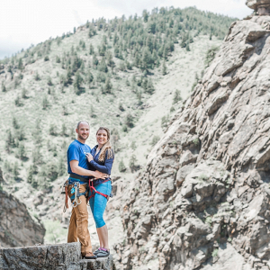 Rock climbing engagement session