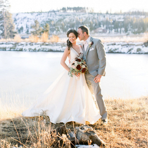 Romantic winter wedding at Devils Thumb ranch