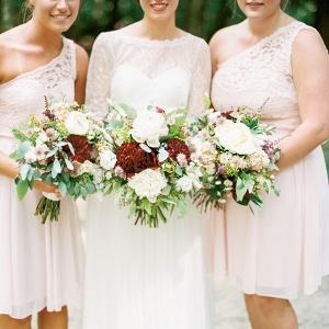 Blush bridesmaids on Mountainside Bride