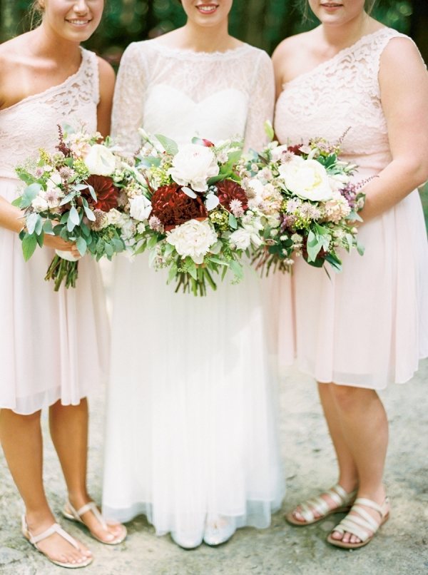 Blush bridesmaids on Mountainside Bride