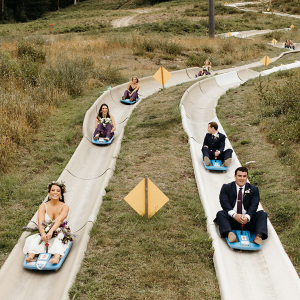 Ski bowl wedding luge
