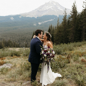Mount Hood wedding portrait