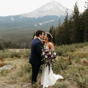 Mount Hood wedding portrait