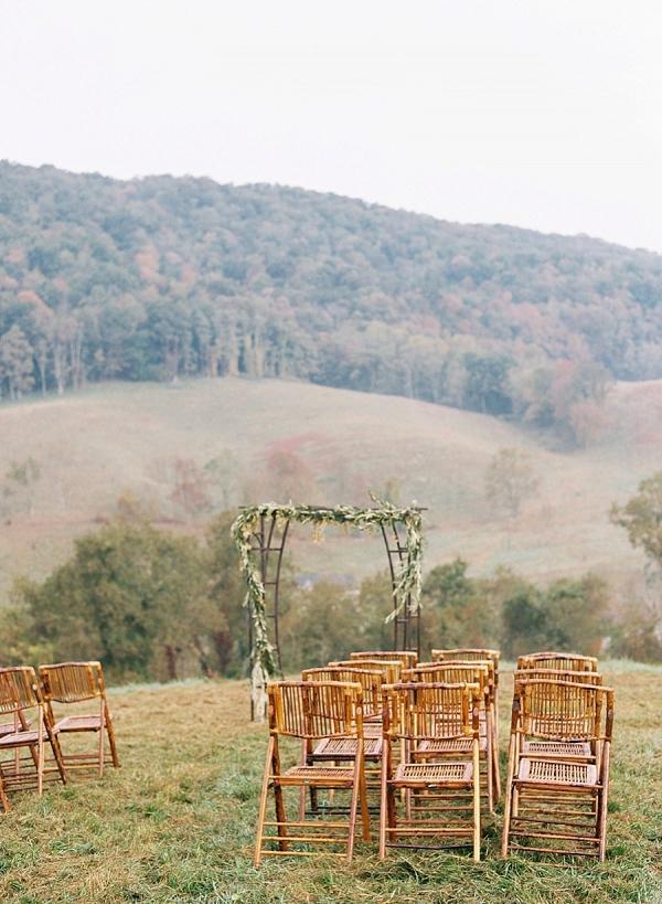 Mountainside ceremony on Mountainside Bride