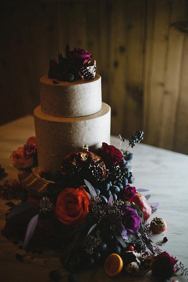 Poppy seed icing wedding cake