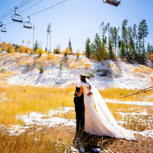 Rustic October wedding in Colorado