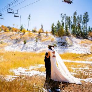 Rustic October wedding in Colorado