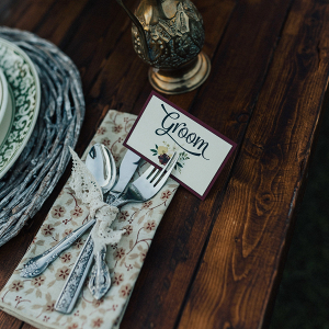 Vintage inspired place setting