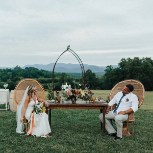 Boho outdoor reception