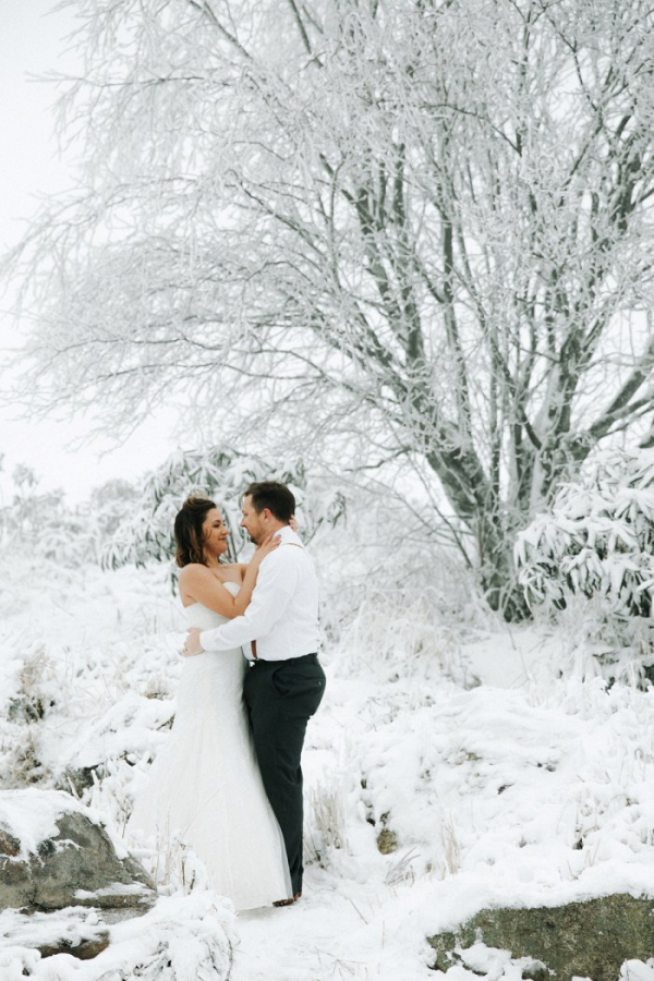 Snowy anniversary session