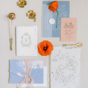 Romantic literary wedding stationery