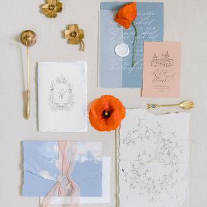Romantic literary wedding stationery