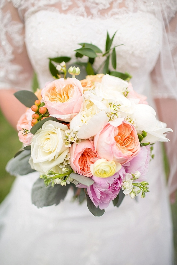 Spring pastel bouquet from Mountainside Bride