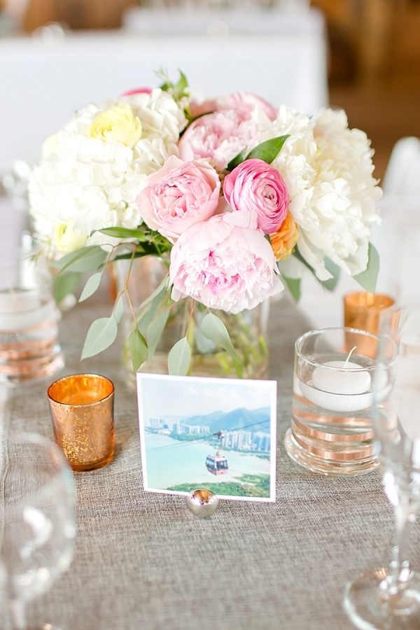 pastel centerpiece from Mountainside Bride