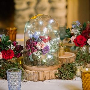 Bell jar centerpiece