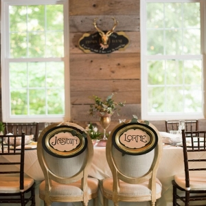 Chair Signs with Vintage-inspired font |Catskill Wedding