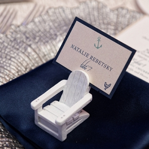 Beach chair place card