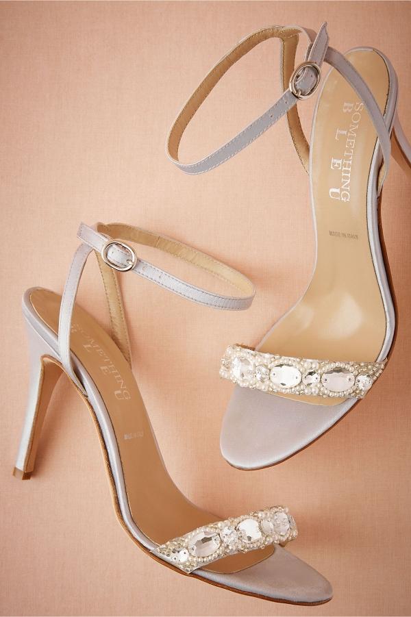 BHLDN Charlize Satin Sandals