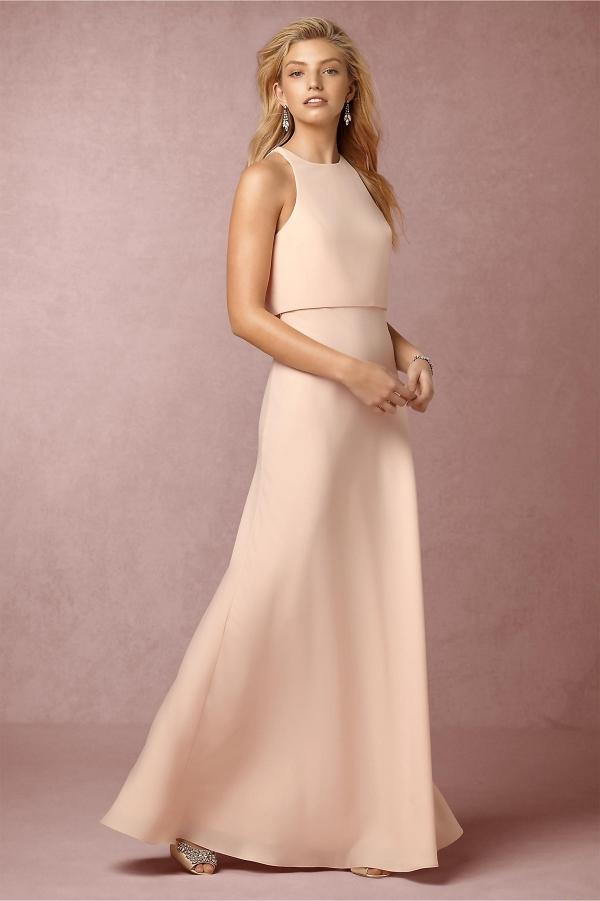 BHLDN Iva Split Back Bridesmaid Dress