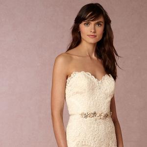 BHLDN Leigh Floral Lace Wedding Dress