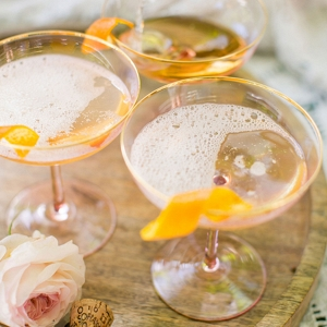 bhldn Blush Champagne Coupes