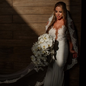 Deep v wedding dress